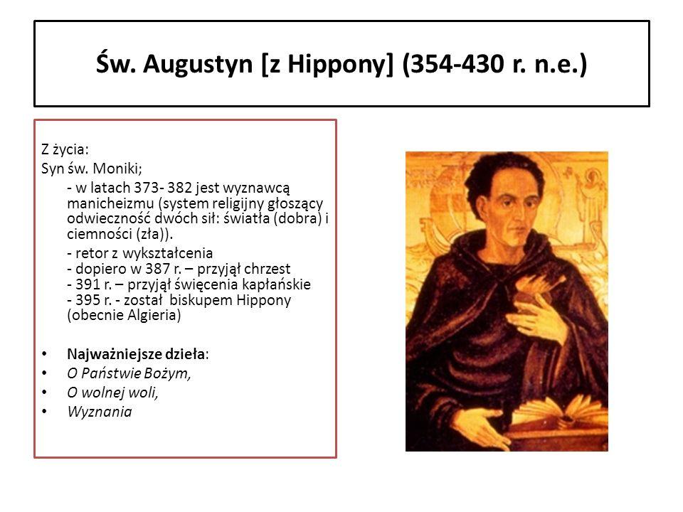 Św. Augustyn [z Hippony] (354-430 r. n.e.)